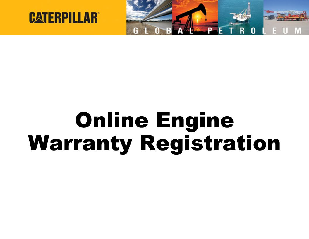 Online Engine Warranty Registration