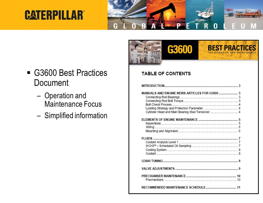 G3600 Best Practices Document