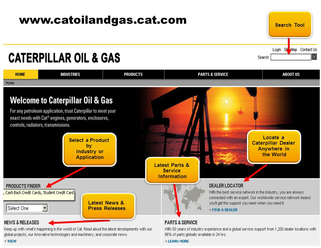 www.catoilandgas.cat.com Search Tool Locate a Caterpillar Dealer