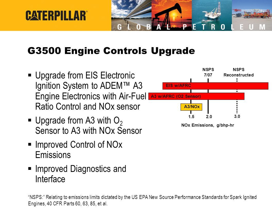 G3500 Engine Controls Upgrade