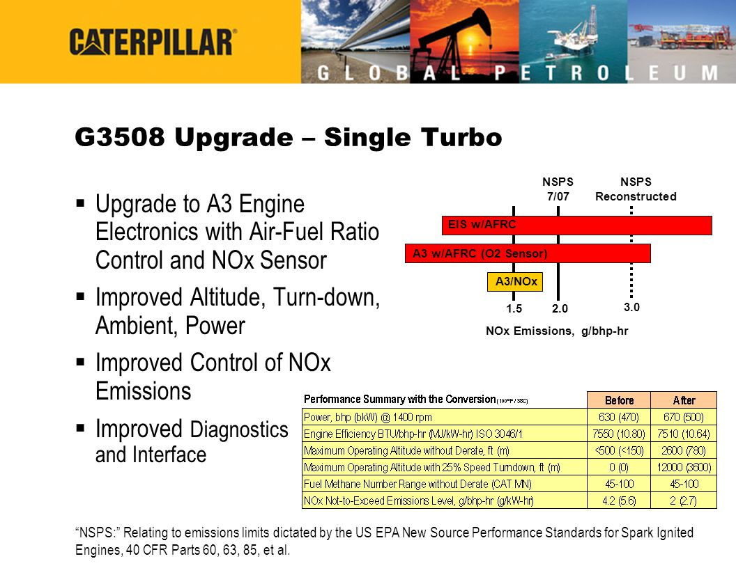 G3508 Upgrade – Single Turbo