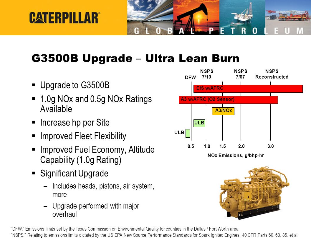 G3500B Upgrade – Ultra Lean Burn