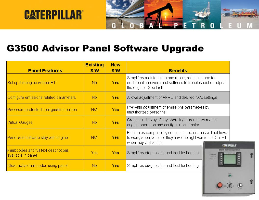 G3500 Advisor Panel Software Upgrade