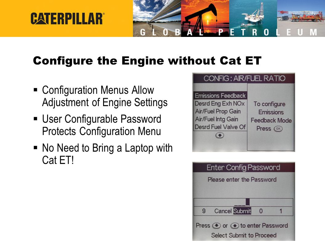 Configure the Engine without Cat ET