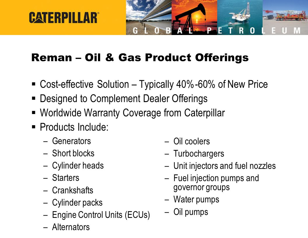 Reman – Oil & Gas Product Offerings