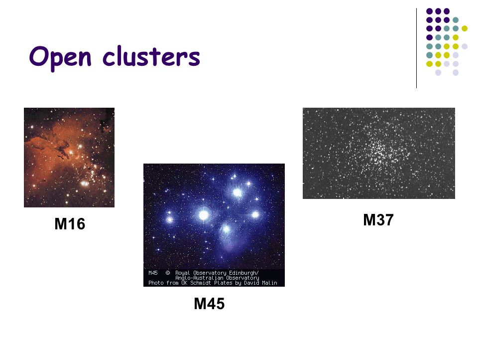 Open clusters M37 M16 M45