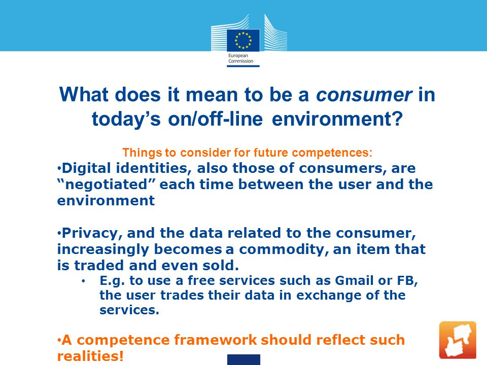 What does it mean to be a consumer in today's on/off-line environment