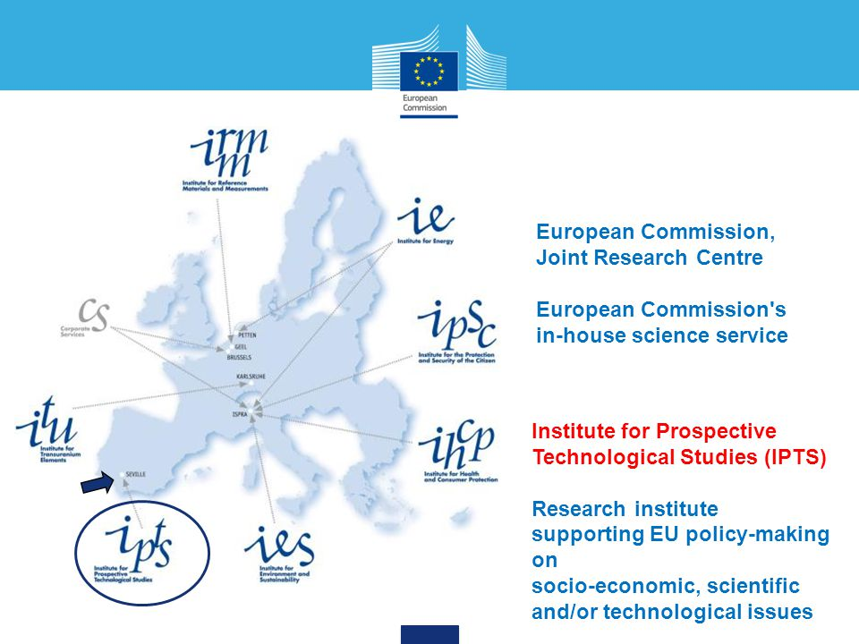 European Commission, Joint Research Centre. European Commission s in-house science service. Institute for Prospective Technological Studies (IPTS)