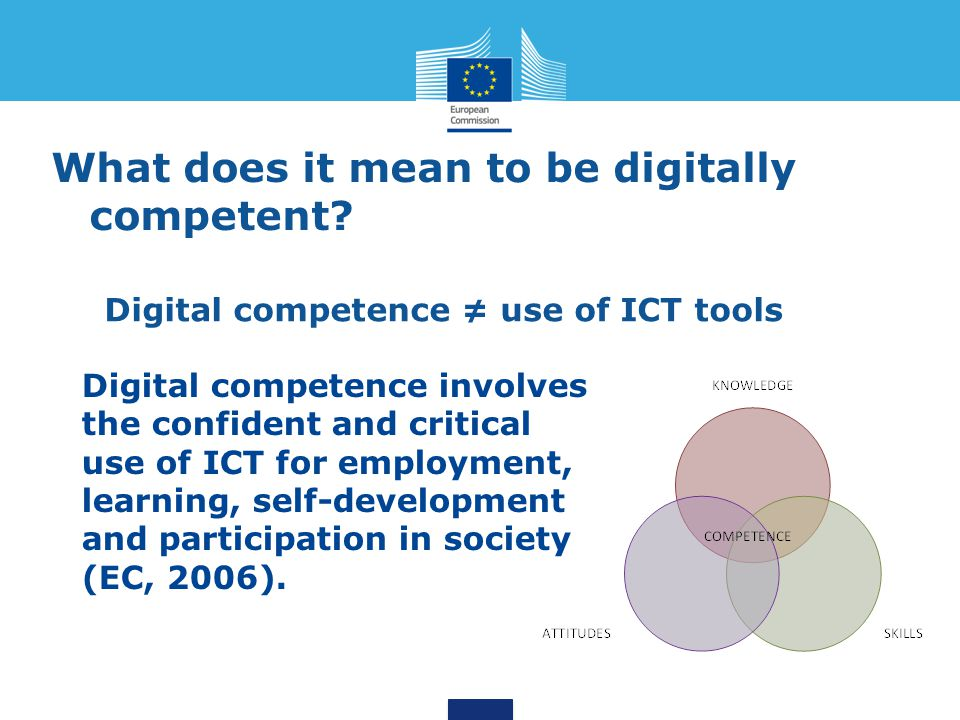 What does it mean to be digitally competent