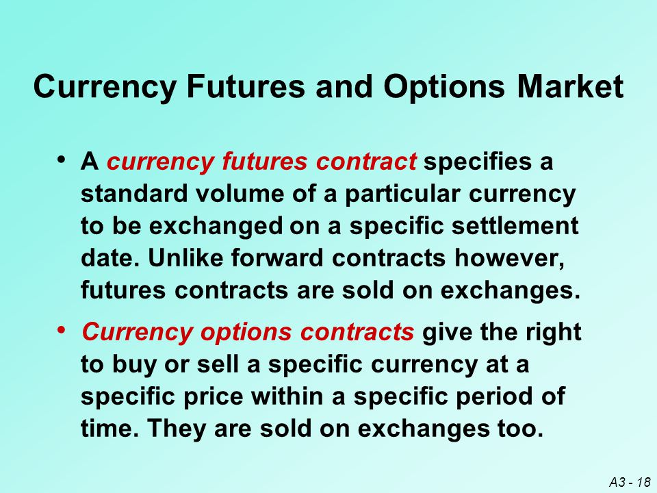Currency Futures and Options Market