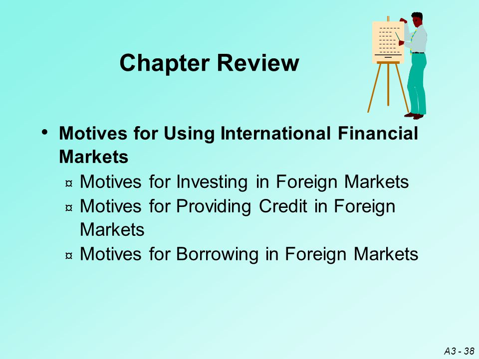 Chapter Review Motives for Using International Financial Markets