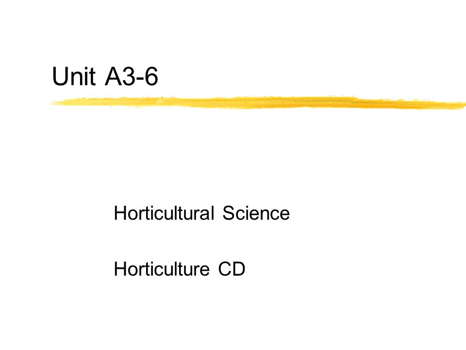 Horticultural Science Horticulture CD