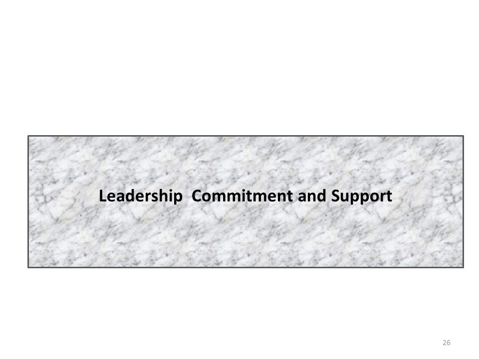 Leadership Commitment and Support