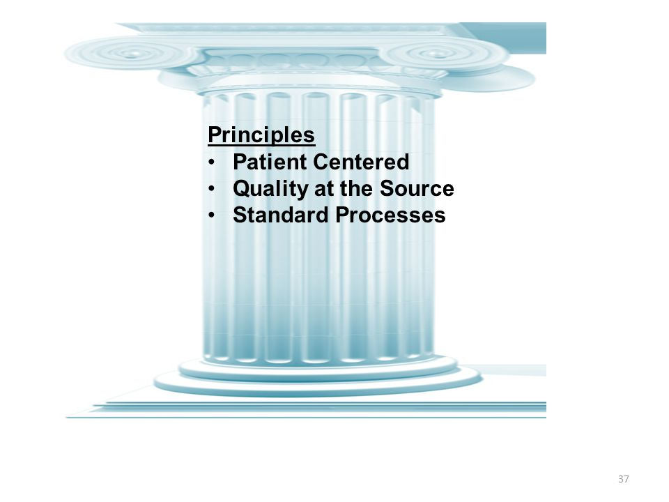 Principles Patient Centered Quality at the Source Standard Processes