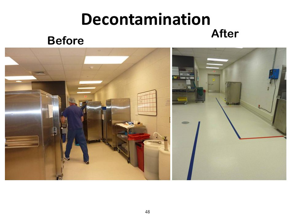 Decontamination After Before 48