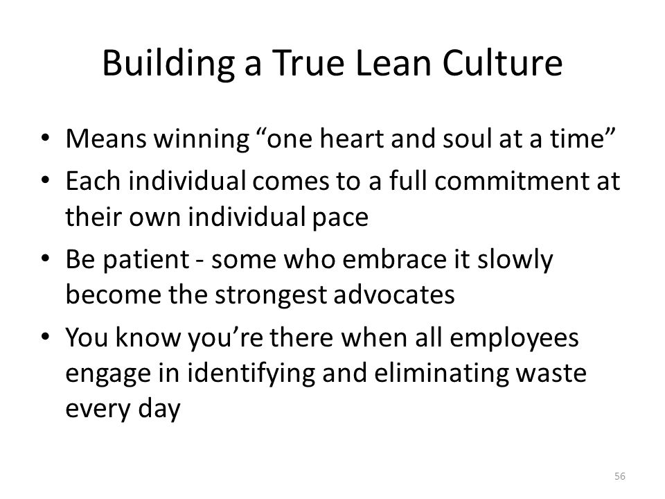 Building a True Lean Culture
