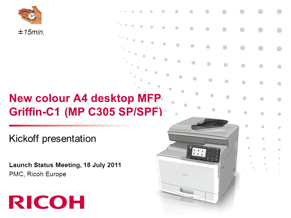 New colour A4 desktop MFP Griffin-C1 (MP C305 SP/SPF)
