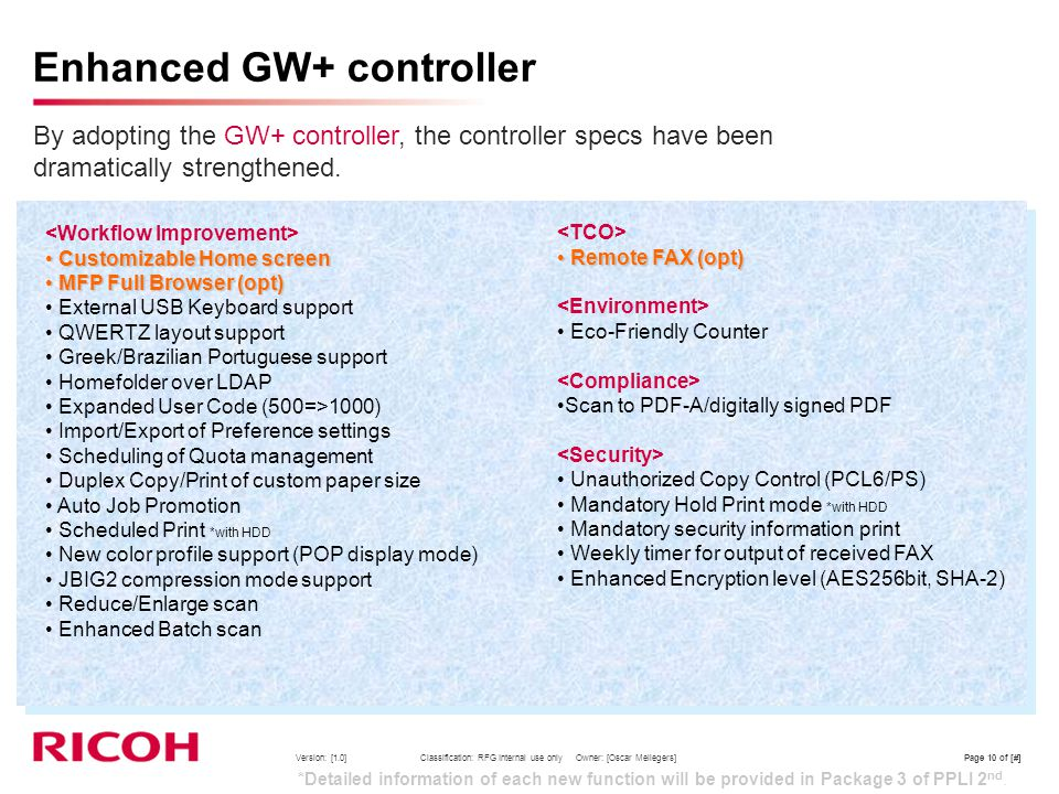 Enhanced GW+ controller
