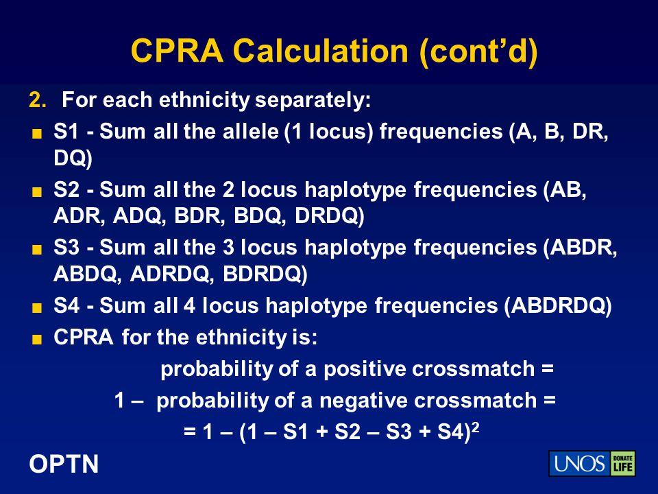 CPRA Calculation (cont'd)