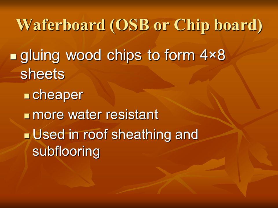 Waferboard (OSB or Chip board)