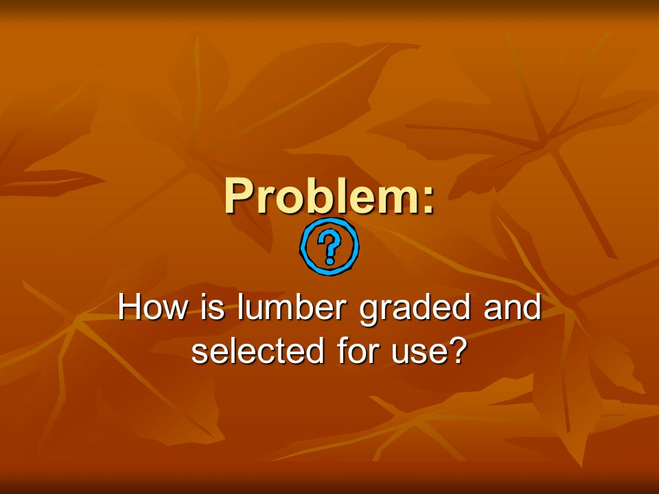 How is lumber graded and selected for use