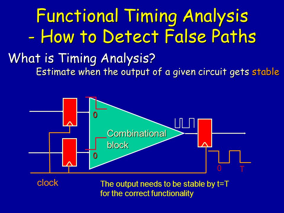 Functional Timing Analysis - How to Detect False Paths