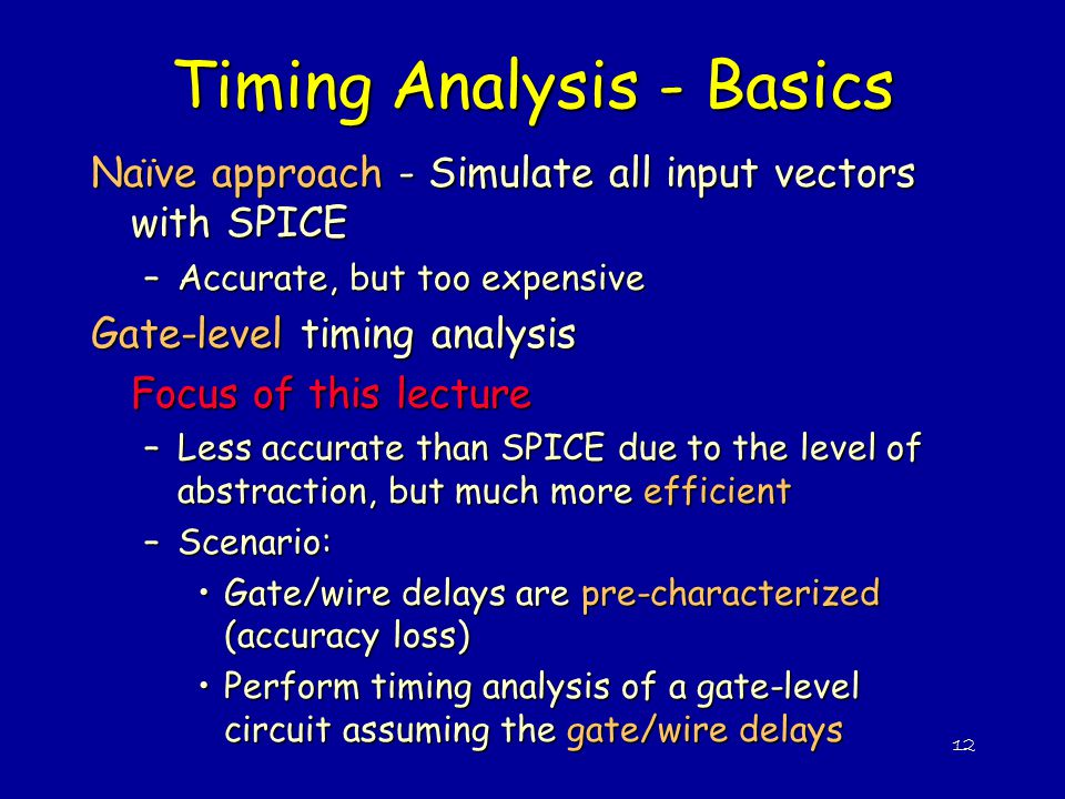 Timing Analysis - Basics