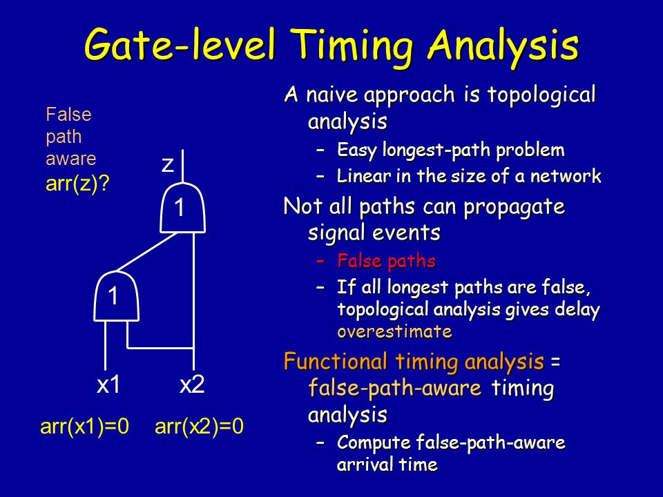 Gate-level Timing Analysis