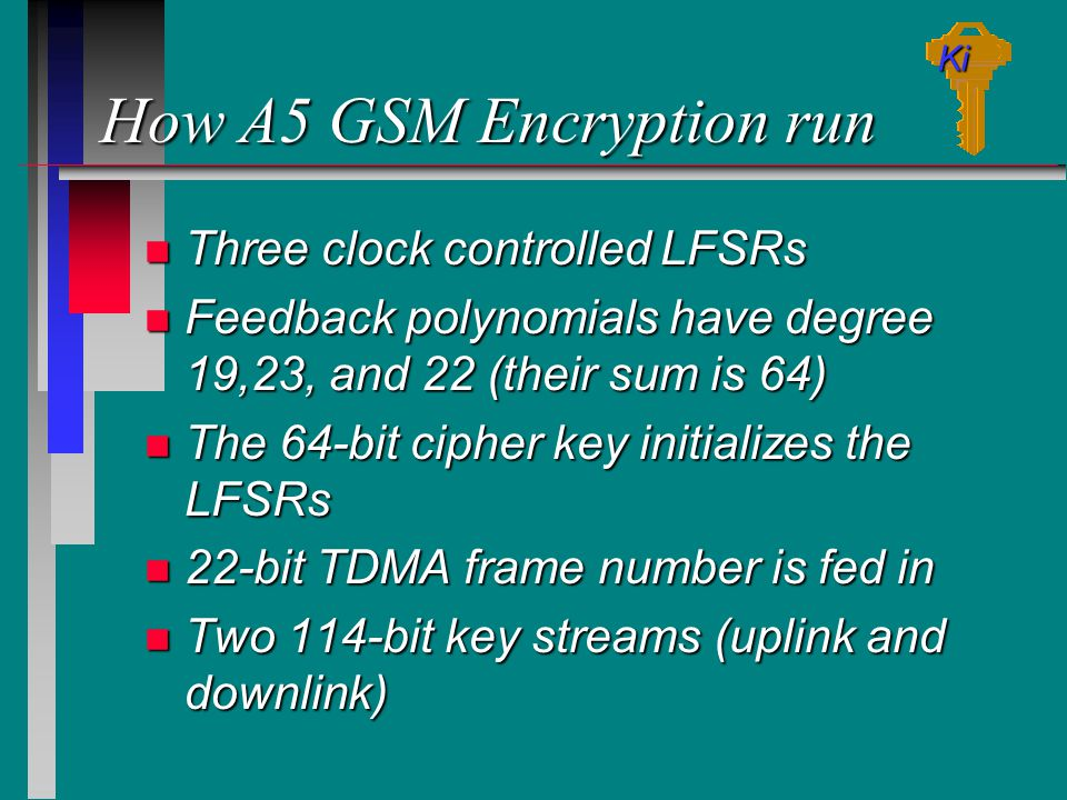How A5 GSM Encryption run
