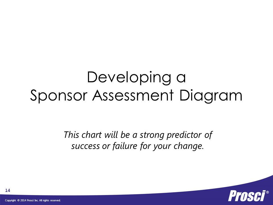 Developing a Sponsor Assessment Diagram