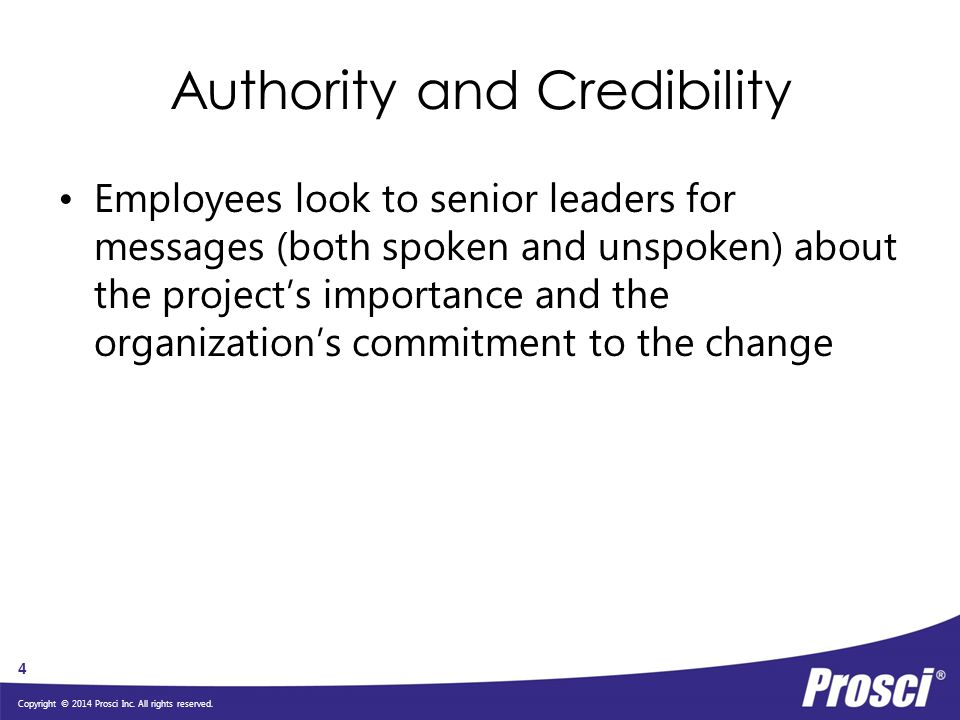 Authority and Credibility