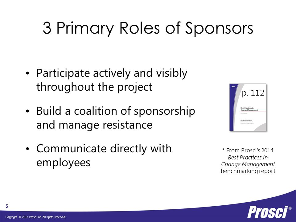 3 Primary Roles of Sponsors