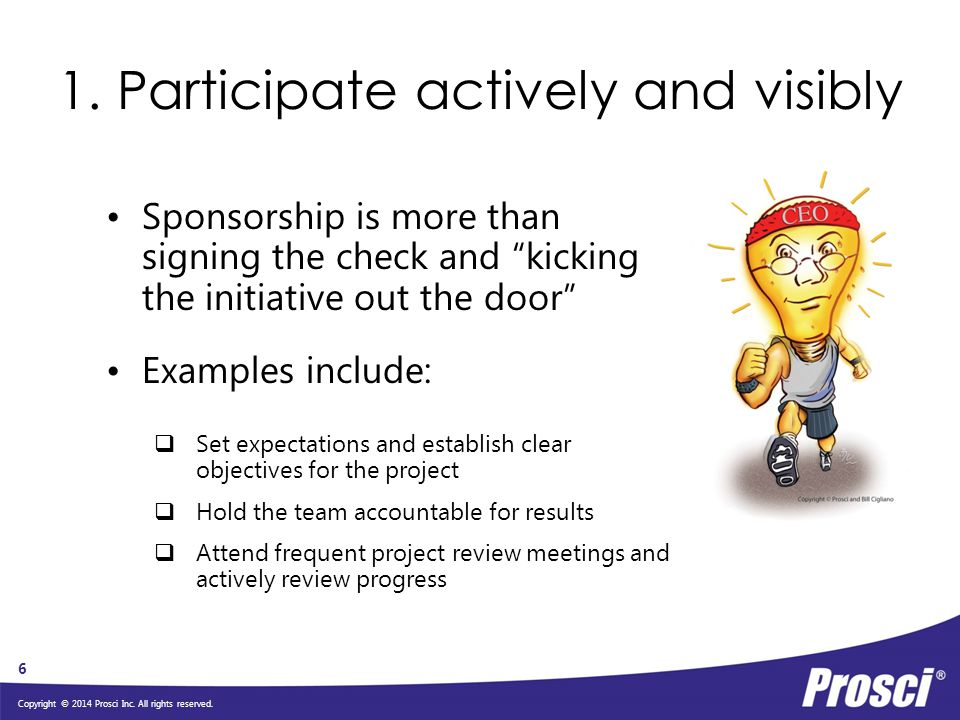 1. Participate actively and visibly