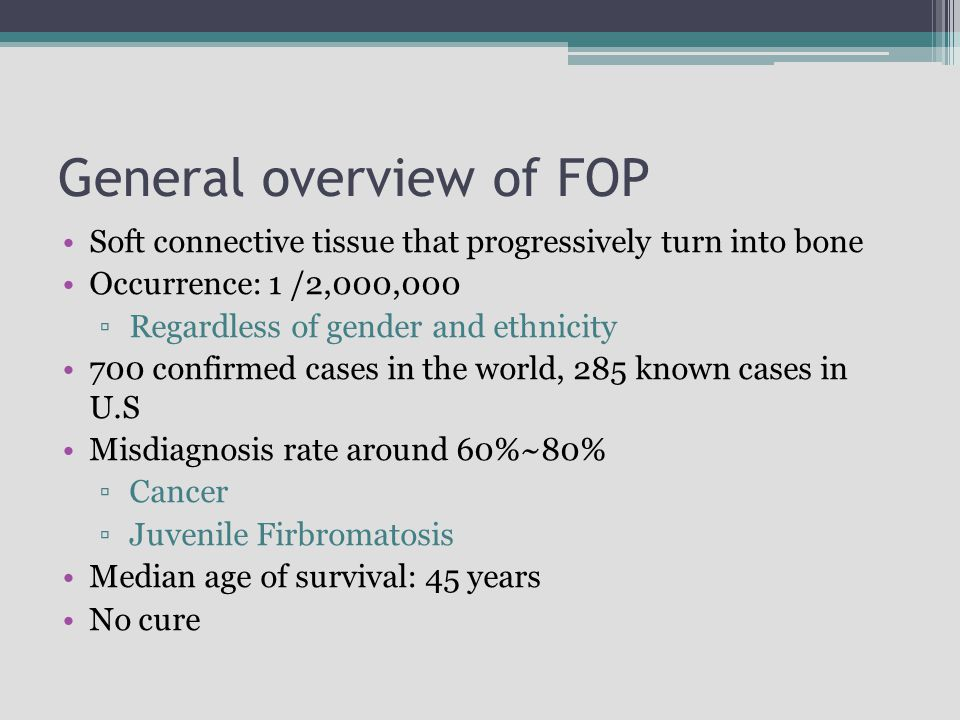 General overview of FOP