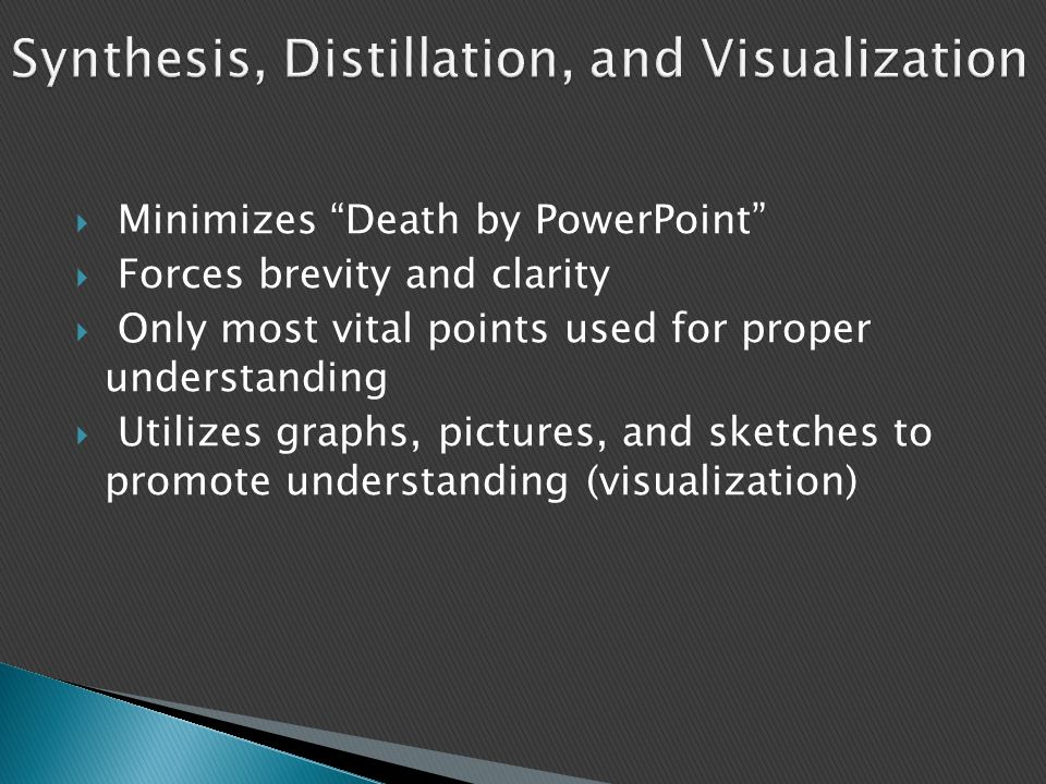 Synthesis, Distillation, and Visualization