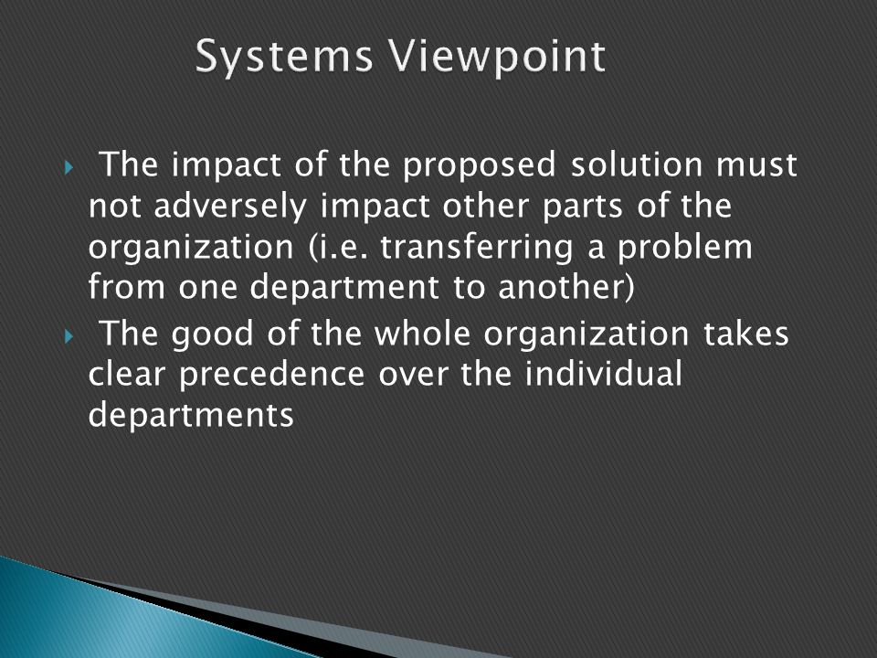 Systems Viewpoint Time: 2 min.