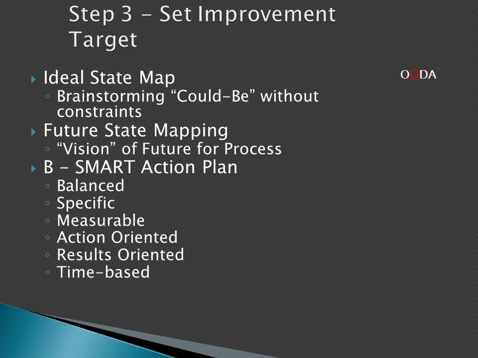 Step 3 - Set Improvement Target