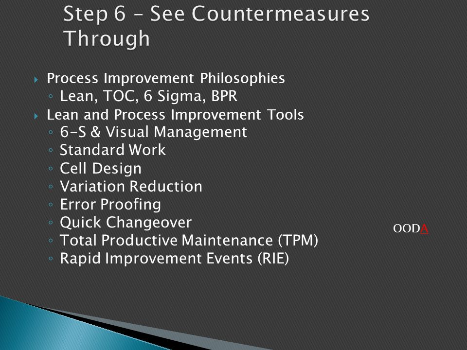 Step 6 – See Countermeasures Through