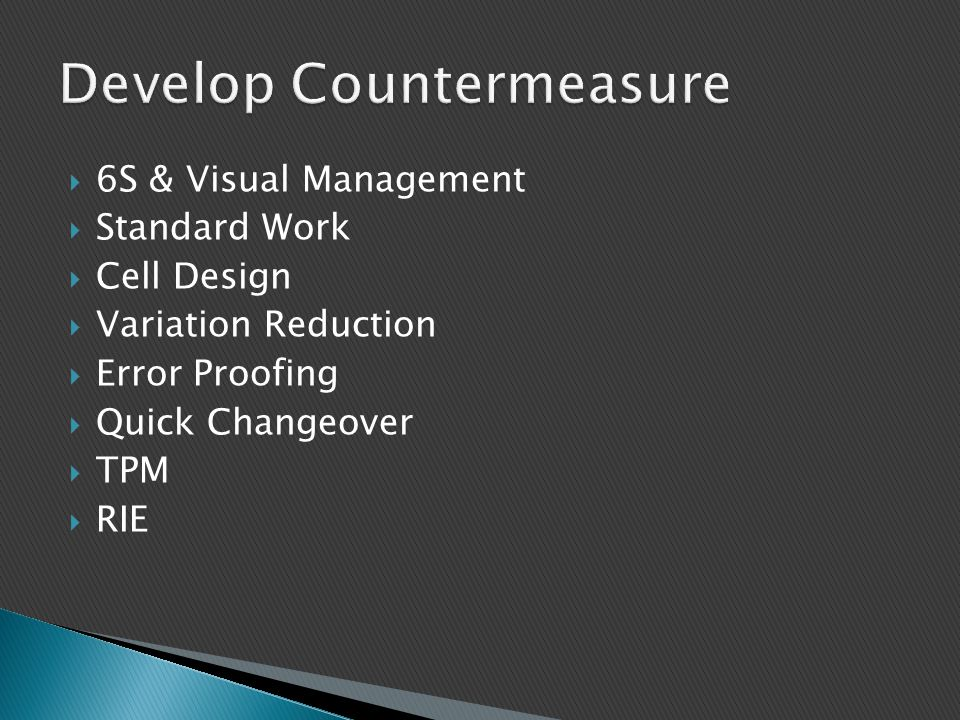 Develop Countermeasure