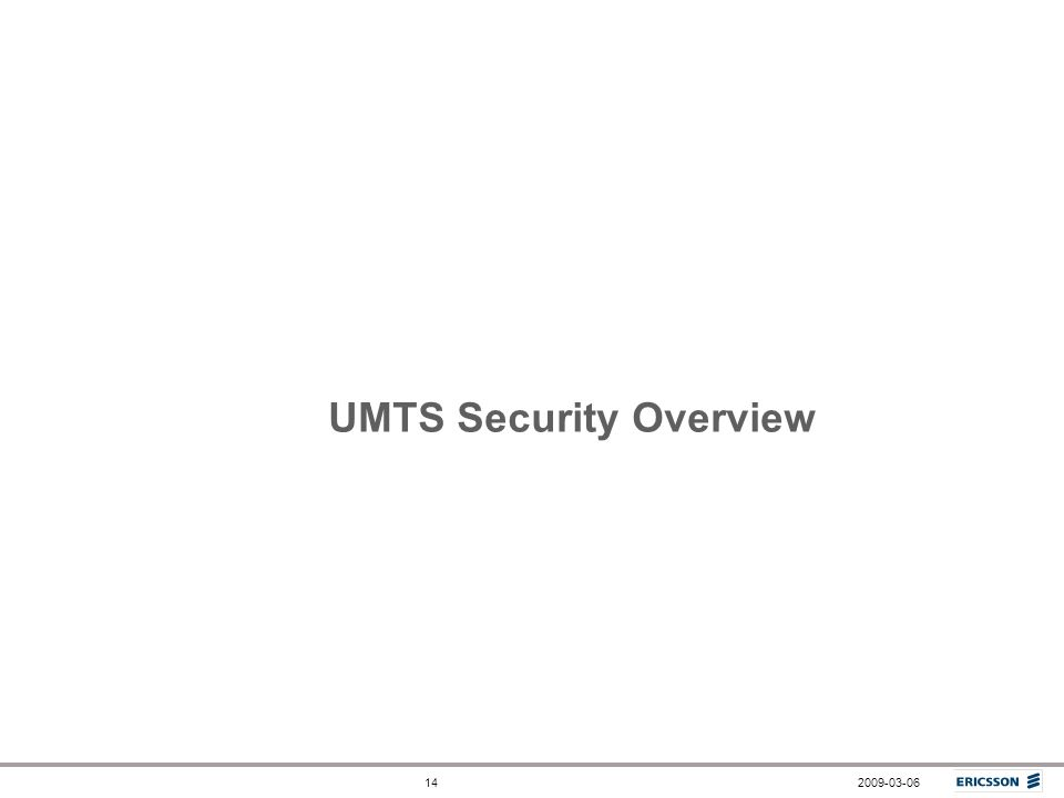 UMTS Security Overview