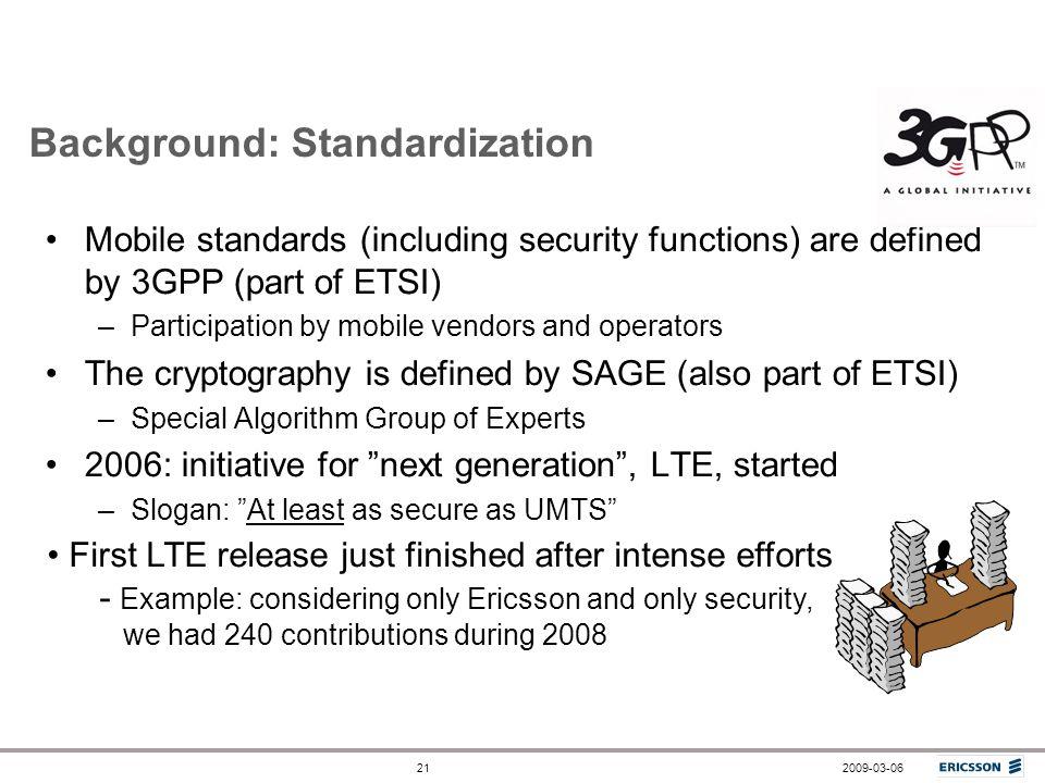 Background: Standardization