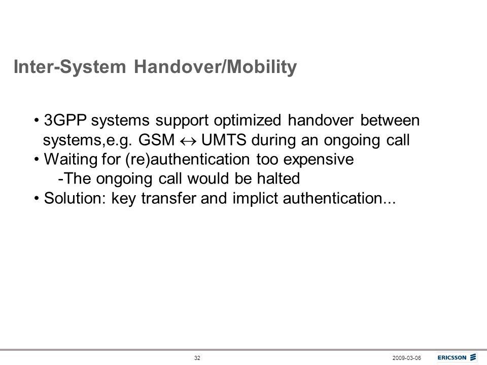 Inter-System Handover/Mobility