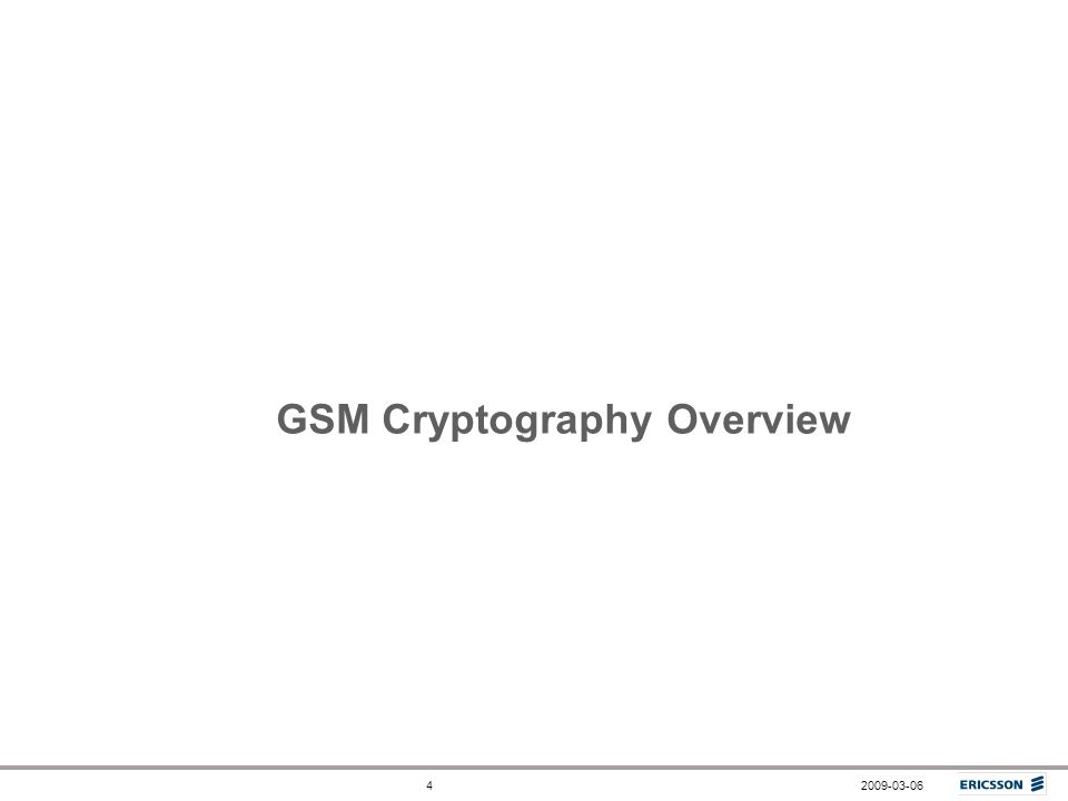 GSM Cryptography Overview
