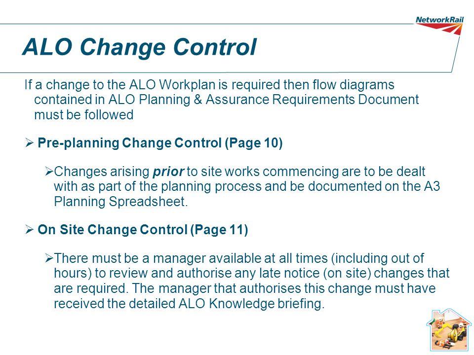 ALO Change Control