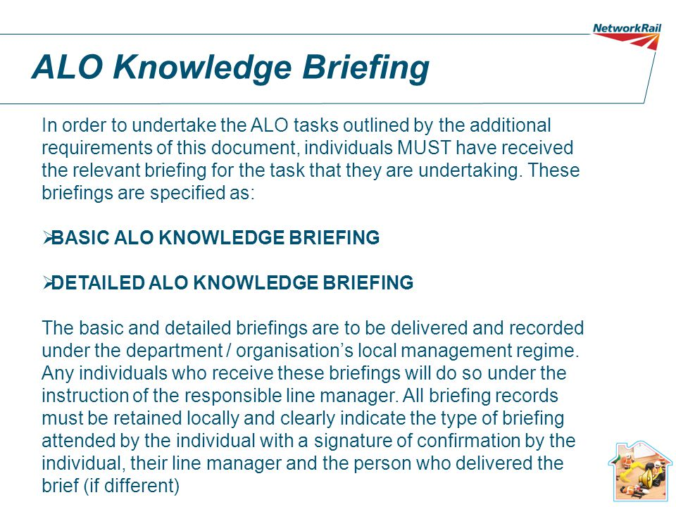 ALO Knowledge Briefing