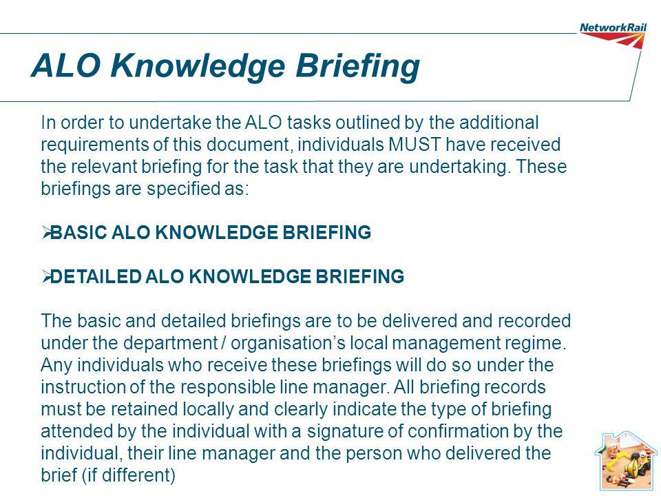 ALO Knowledge Briefing