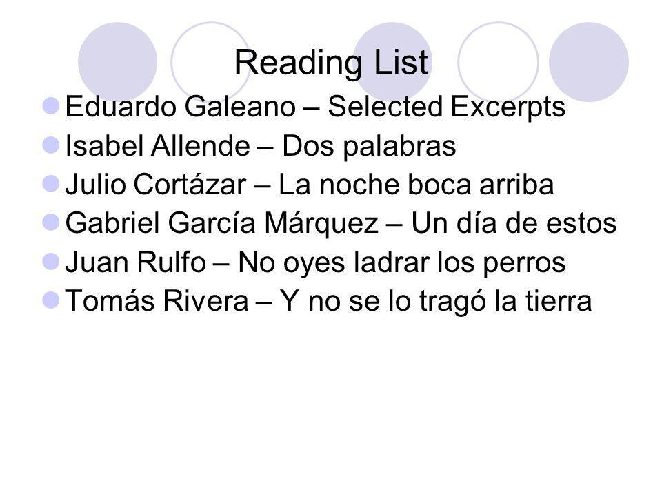 Reading List Eduardo Galeano – Selected Excerpts