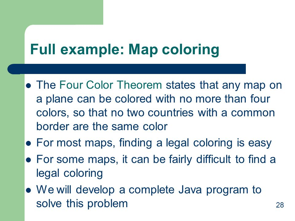 Full example: Map coloring