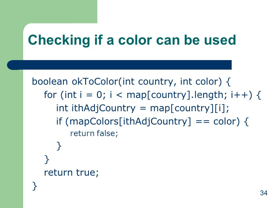 Checking if a color can be used