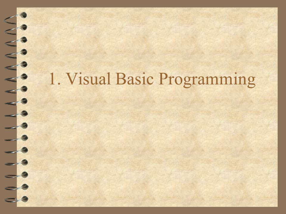 1. Visual Basic Programming